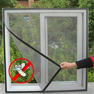 DIY Window Net Большой окна Насекомый экран сетки Net Fly Buck Mosquito Window Чистая крышка Занавески Занавески Занавески