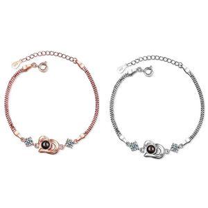 Heart-shaped Miniature Projection Bracelet In Rose Gold#1#1
