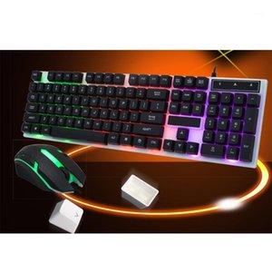 Teclado com fio 104 Teclado Mouse Combo Backlights USB Conexão para PC Laptop Notebook1