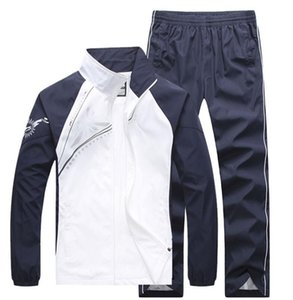 fashion men's casual tracksuits patchwork sportswear coats jackets+pants sets mens hoodies and sweatshirts outwear suits M-4XL