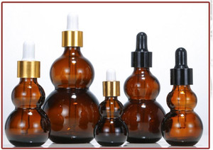30ml gourd bottles Glass Liquid Reagent Pipette Bottle glass dropper with Round head glass dropper plastic caps Wholesale
