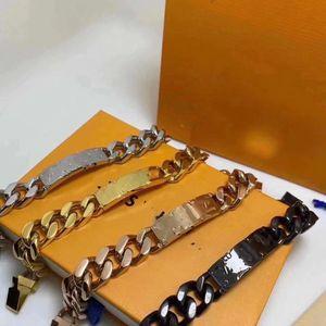 2021 бутик горячие титановые стальные браслеты, мужские моды браслеты хип-хоп носить аксессуары