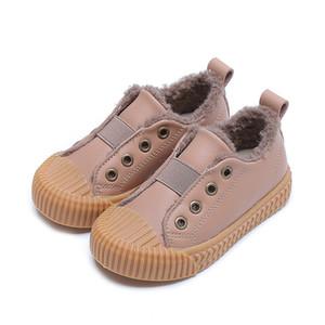 Zapatos para niños Lindo de pieles de peluche para niños zapatillas de deporte niños zapatos casuales para niñas zapatillas de deporte niños zapatos de algodón tela de algodón cuero moda 2020 y1118
