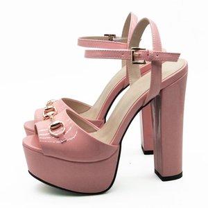 Lanlojer High Heels Sandals Femme Sexy Stripper Shoes Mujer Tacones 2021 Nuevos zapatos de verano Peep Toe