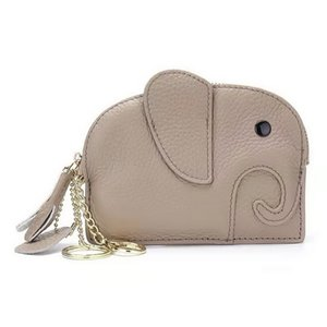Hot Sale New Genuine leather tassel zipper elephant women designer key wallets lady fashion casual cow leather zero purses 5colors