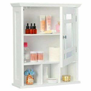 Wall Mount Bathroom Cabinet Storage Medicine Cabinet Kitchen Laundry