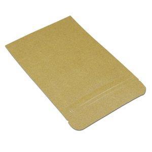 50 adet 1321 cm Beyaz Kahverengi Zip Kilidi Stand Up Kraft Kağıt Alüminyum Folyo Paketi Çanta Açılır Toz Somun Depolama Mylar Kılıfı H Jlllxo