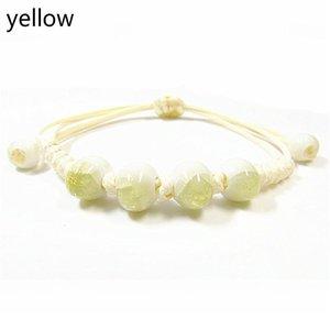 Jingdezheen керамические украшения 8 мм льда треснутые бусины четыре бусины треснутые застекленные фарфоровые бусины браслет браслет (многоцветный o jllidc