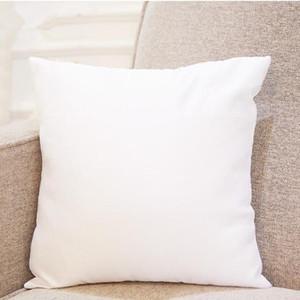 Ucuz 40 * 40 Süblimasyon Yastık Boş Yastık Polyester Yastık Yastık Kapakları Isı Transferi Baskı Yastık Yastık DIY Hediye