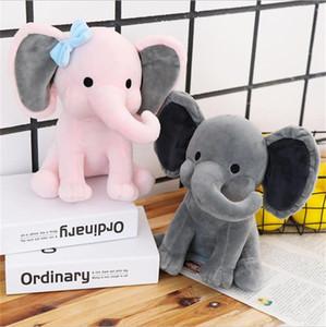 2 colores niños elefante alefón suave almohada relleno de dibujos animados animales muñecas suaves juguetes juguetes para niños de espalda para dormir niños regalo de cumpleaños para niños