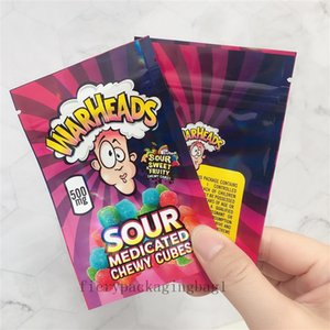 500mg Warheads Borsa Vendita calda Sour Sweet Sweet Frudente medicata medicata Cubi gommini Edibles Gummies Warheads Caramelle Pacchetto Borse 2021