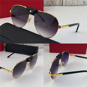 New fashion designer sunglasses 0096 retro pilot metal frame with small leather vintage avant-garde pop style top quality wholesale with box
