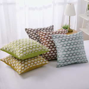 Cotton Linen Yarn-dyed Cushion Cover 45x45cm Chair Seat Waist Pillowcase Office Home Sofa Decorative Pillow Covers Cushion Case