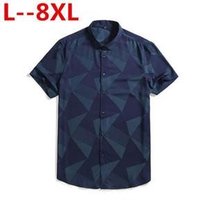 Plus 8XL 6XL 5XL 4XL Mens Hawaiian Shirt Male Casual camisa masculina Printed Beach Shirts Short Sleeve Summer men clothes 2020