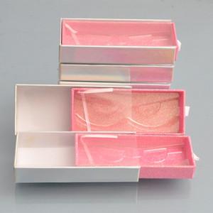 wholesale false eyelash packaging box lash Drawer boxes packaging custom logo faux cils 25mm mink eyelashes Barbie powder case