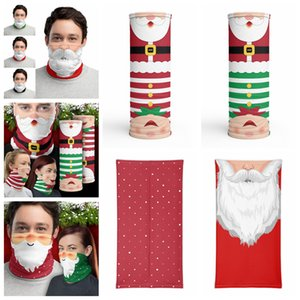 Chirstmas Face Shield Bandana Face Outdoor Sports Magic Headscarf Headband Visor Neck Gaiter Christmas Decoration Gifts Party Mask Wholesale