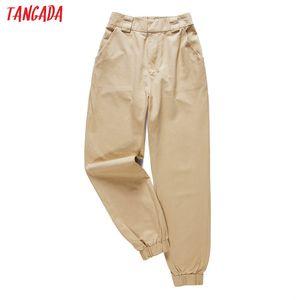 Tangada fashion woman pants women cargo high waist pants loose trousers joggers female sweatpants streetwear 5A02 Y1119