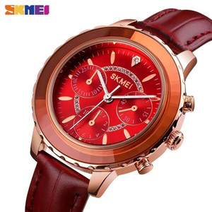 SKMEI 1704 Women Quartz Chronograph Watches 3Bar Waterproof Shock Resistant Ladies Analog High Quality Intelligent Wristwatches