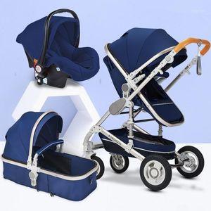 عربة طفل 3 في 1 مع مقعد السيارة ارتفاع المشهد عربة قابلة للطي عربة طفل عربة السيارات عربة طفل حار عربة عربة trolley1