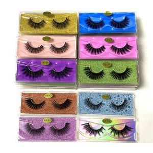 3D Mink Eyelashes Wholesale 10 styles HD LD 3d Mink Lashes Natural Thick Fake Eyelashes Makeup False Lashes Extension In Bulk Free Shipping