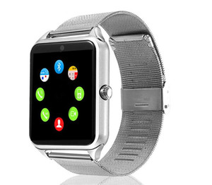 Z60 Bluetooth Smart Watch Stainless Steel Smart Bracelet Support SIM TF Card Camera Fitness Tracker Smartwatch For Men IOS Android 3 colors