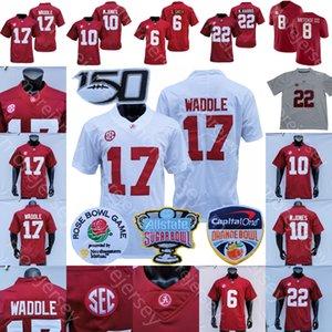 NCAA College 2020 2021 Alabama Crimson Tide футбол Джерси DeVonta Смит Jaylen Waddle Джон Metchie III Mac Джонс Najee Харрис Красный Белый