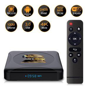 HK1 RBOX R1 MINI Android 10.0 TV Box Rockchip RK3318 RAM 2GB 4GB ROM 32GB 64GB 2.4G 5G Wifi Set To