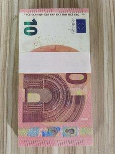 Самые реалистичные PROP Money 10 евро Бар практики банкноты Детские игрушки для взрослых игр реквизит специальный кинограмма оптом искусственная заготовка Tokens 27