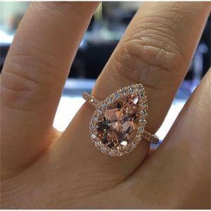 2020 Luxury Womens Fashion Gemstone Engagement Rings Women Jewelry Simulated Diamond Ring For Wedding