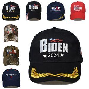 Biden 2024 Hat Presidential Election Cotton Baseball Cap Adjustable Build Back Better Biden Harris Outdoor Ball Cap Sea Shipping DDA835