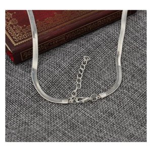 Breast Couples Men And Women Common Section Short Section Clavicle Blade Chain Flat Snake Bone Chain Silver sqcPPC queen66