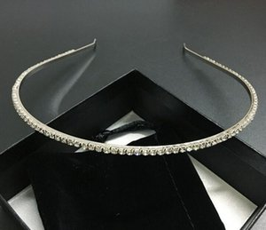 Luxury Designer Shining Crystal Hair Hoop for Women Jewelry Fashion CZ Diamond Bling Bling Hairpins Headbands for Girls Birthday Gift