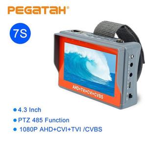 디스플레이 5 인치 5MP CCTV 카메라 AHD 테스터 TVI CVI CVBS 휴대용 CCTV 모니터 지원 UTP