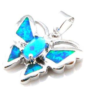 animal opal jewelry pendant;fashion butterfly opal pendant Mexican fire opal pendant 925 stamped PS1686K