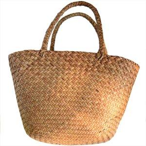 Повседневная соломенная сумка натуральные плетеные сумки женские оплетенные сумочки для сада ручной работы мини ткани ротанга