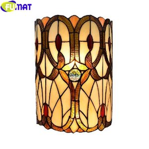 FUMAT Tiffany Style Wall Lamp Decorative Backlight Porch Light Classical Nordic Mirror Courtyard Lighting Multi Oil Painting Art