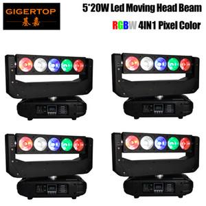 Freeshipping 4 unidades Mini 5x20W RGBW 13 CH DMX Luzes Fase DJ LED Spider Moving Head Beam Super Beam Effect