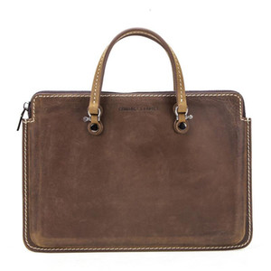 New Crazy briefcases laptop man Leather messenger Soft office bags men for Portable Genuine Notebook Computer Package designer