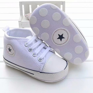 Baby Boys Girls Canvas Shoes 0-18M Kids Soft Soled Sneakers Bebe Lace-UP Crib Footwear Newborn Infant Toddler First Walkers