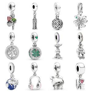 Pdd dz 34 925 prata esterlina primavera novo charme pingente com diy pulseira colar jóias presente escultura adequado para mulher