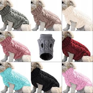 Sonbahar Kış Köpek Giyim Kazak Sıcak Yün Örme Pet Köpek Giysi Yaka Eğlence Ropa Para Perros Aksesuarları Moda 8 9MY G2