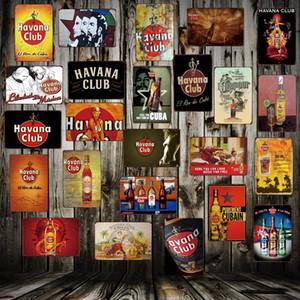[Wellcraft] Cuba Havana Club Metal Tar Tin Sign Guevara Pin Up Placca Placca Poster Vintage Musica Pub Bar Retrò Pittura