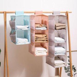 Multi-layer wardrobe closet foldable item storage rack clothes inner hanger closet organizer organizer storage shelf