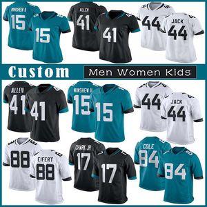 16 Trevor Lawrence Özel Erkek Kadın Çocuk Futbol Forması 41 Josh Allen 15 Gardner Minshew II 30 James Robinson 21 Henderson 44 Myles Jack