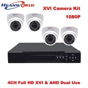 XVR DVR 4CH Kit 1080P CCTV Camera System 2 mp DVR Kit HD 4 Channel Home Security System Dome AHD Surveillance Camera 4pcs1