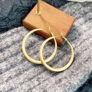 2020 Senior Japanese and Korean earrings European and American fashion cold wind earrings metal simple frosted big circle earrings