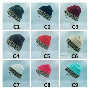 Men Women Winter New Warm Woolen Hat With Label Knitted Women Hats Casual Outdoor Fashion Caps 9 COLOR