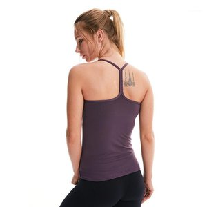 Фитнес Топ для женщин Тренировки Top Nylon Solid Yoga Рубашка бегагинг Femme Syred Bendwear Bondded Specket Works Root1