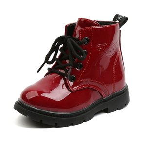 COZULMA New Autumn Winter Children Leather Boots Girls Boys Shoes Kids Martin Boots 1-6 Years Baby Ankle Boots Sports Sneakers Y1116