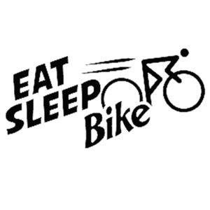 16*8cm eat sleep bike bicycle funny vinyl decal car bumper sticker Vinyl Hobby Car Bumper Sticker car accessories